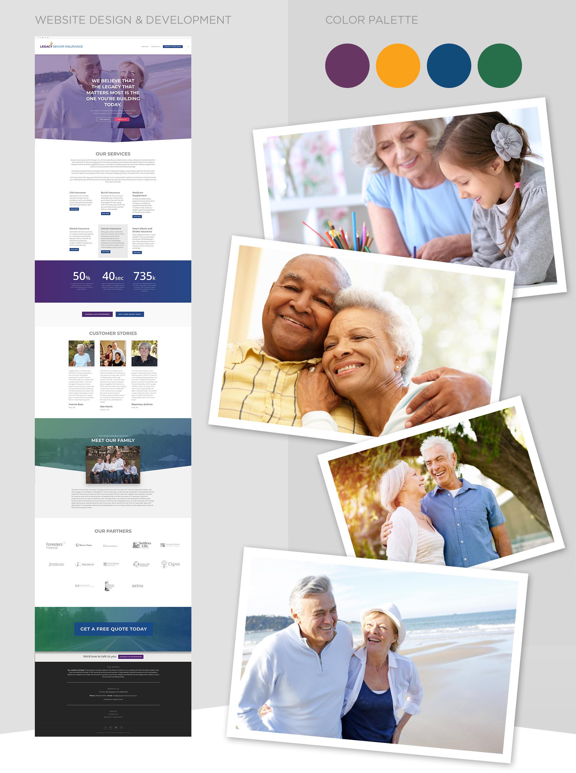 Branding-LEGACY-senior-insurance-logo-website-colors