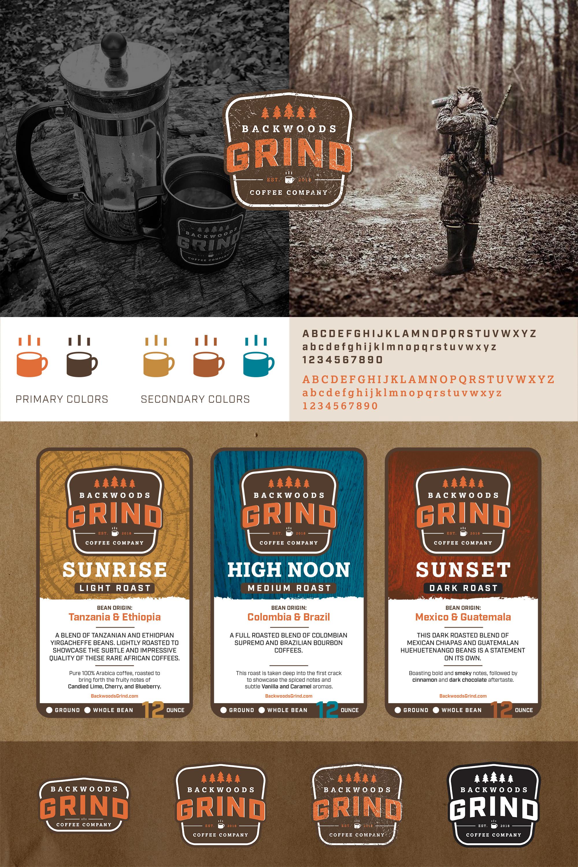Branding-Logo-Backwoods-grind-coffee-packaging-label