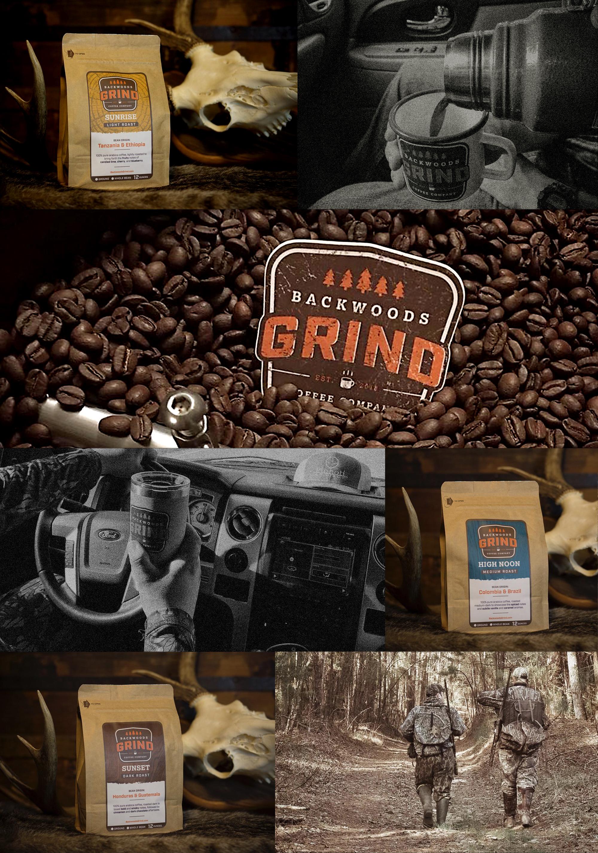 Branding-Logo-Backwoods-grind-coffee-packaging